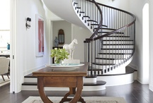 Stairways in Veranda / Twirling spirals, orderly thick steps, creaky older stairways -- we're inspired by them all.  / by Veranda Magazine