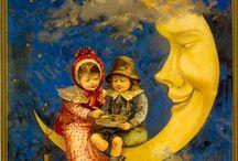"""""""Che fai tu, luna, in ciel? dimmi, che fai, silenziosa luna?""""   / by Marimonte"""