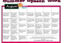 SLP Summer speech work  / by Lisa Varo, SLP