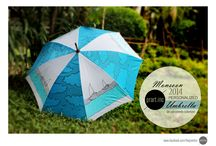 hand painted umbrella by praratinc / Monsoon special / by prartinc