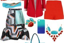 Red & Aqua  / I love, love, love this color combination.  / by DeLaine Blake