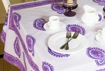 Purple Table Linens /  Purple Table Linens - Indian Table Cloth - Fabric Tablecloth  / by Attiser