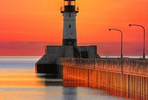 A beacon of light shall lead the way...... / beautiful to whimsical lighthouses standing tall,bright and strong. / by Robin Kauffman
