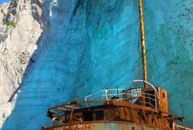 Rusting ship hulks / Left to rust into history / by Dale Robitaille