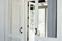 screen doors , screened porches, floors, rugs, etc.. / by Hedy Koch