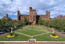 Smithsonian Castle / Over 2 million visitors pass through the Smithsonian Institution Castle on the National Mall. The Smithsonian Castle is the orientation center for the Smithsonian. The building was designed by James Renwick. / by Smithsonian Gardens