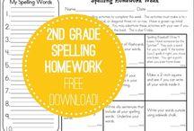 2nd Grade Homework / by Melanie Ralston Valencia