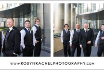 Groomsmen Poses / Shots of the bridal party, more specifically the groomsmen. / by Robyn Rachel Photography