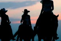 Cowboys and Cowgirls / The old west and the new west. I grew up in the west.  / by Marie