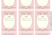 Tag para lembrancinhas / Tag para personalizar suas lembrancinhas e produtos artesanais / by Tonbo Nuske