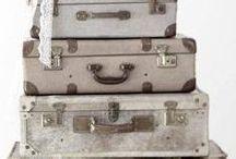 Koffers, manden en dozen/suitcases, baskets, boxes / by Edith Immeker