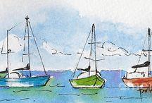 Pat Katz's Watercolours / by Dave Katz