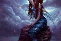 mermaids &faries / by Pamela Mccrocklin