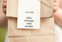 kiddie wedding table/favors / by Sarah DiMaria