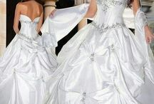 wedding gowns, tucks, bouquets, and rings / by Abigail McGuire - Doss