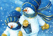 Christmas - Snowman / by Alison Godfrey