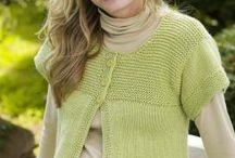 Knitting-adult-short sleeved cardi / by Mary Ann Nash