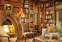"""Libraries, Bookshelves and Book Stores / """"I have always imagined that Paradise will be a kind of library."""" ~Jorge Luis Borges / by Nanette Clark"""