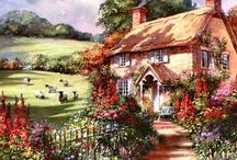 Art -Cottage ✨✳️✳️✨ / by Diana California Girl