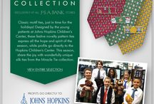 Miracle Ties 2013 / We are working with the Johns Hopkins Children's Center to bring you the 2013 Miracle Tie collection. These ties are design by the Center's young patients and all profits go to the Johns Hopkins Children's Center. / by Jos. A. Bank