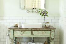 Bathroom style and storage / by Tina Almario