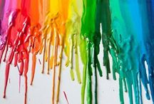 Crayons  / Color Me a Rainbow ... / by Christine Kysely