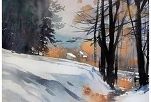 watercolor WINTER  / by Shirley Crosswhite