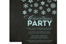 Christmas & Holiday Party Invitations / A collection of stylish and modern Christmas & Holiday party invitations. / by The Spotted Olive • Invitations & Stationery Design