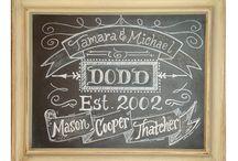Chalkboard Ideas / by Kim Wright