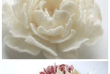 CRAFTS: Flowers and pompoms / Flowers to make from ribbon, lace and other things.  Pompoms from all sorts of things.  / by Suzi Corwith