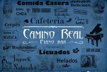 Camino Real piano bar / Visual solutions and material for Camino Real Piano Bar in Villa Giardino, Córdoba, Argentina / by Maiz infographics & design