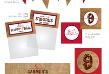 Camping Birthday Party / Kids Birthday party ideas, kids birthday themes. Camping Birthday Party, Camping themed party, S'mores, Camping party favors, caming dessert bar, camping party decor, camping party ideas / by Fearon May Events