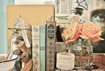 Vintage   Books in Home Decor / Vintage books are so easy to find and collect and can be used in so many ways to decorate your home, parties, showers, or rustic, vintage weddings. / by Ann @ Duct Tape and Denim