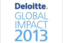 Deloitte Global Impact 2013 / Welcome to Global Impact 2013, Deloitte's annual report. A snapshot of the depth and breadth of the Deloitte story, it provides facts about our network and highlights of our work, culture, people, and broad range of businesses. / by Deloitte