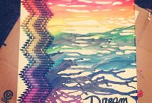 Melted Crayon Art Ideas / by Kelsie Mariano