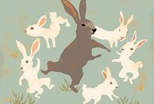 lapins... bunnies / by Trine Tanchette