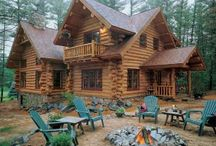 Log Homes / by Kathy Win