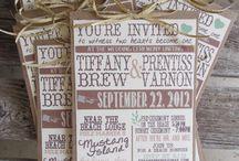 Wedding Invites, Programs, Menus etc.. / by Lacey Albert