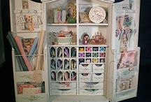 Miniature: art studio/ craft room/ sewing room/ study/ home office / by Suze Smidt