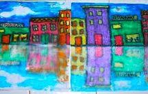 ART ED:  Cityscape, Landscape, Perspective Art Projects / by Rachel Bingham