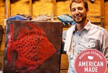 Shop The Iron Fish | Martha Stewart American Made Winner / Hand made coastal wall sculptures by Chase Allen. Fish, Mermaids, Stingrays, and more. / by Completely Coastal