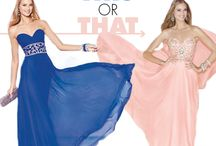 This or That / This is or that by ALYCE Paris  All dresses in this board are by ALYCE Paris http://www.alyceparis.com / by Alyce Paris
