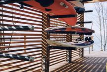 Kayak, SUP, surfboard storage / by Debora Caruso Kolb