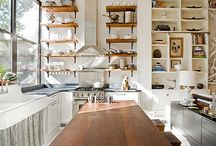 Kitchens-industrial, utilitarian / Kitchens that have no frills, almost look like a professional restaurant kitchen, or evoke a sort of industrial aura / by Julie Williams