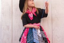 my creations / http://moms-little-place.blogspot.com/2012/03/emmas-new-cowgirl-skirt-made-from.html / by Sherry Martz