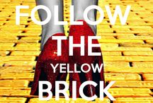 "Yellow Brick Road / I ❤️The Wizard of Oz!  ""What makes the elephant charge his tusk in the misty mist or the dusky dusk? What makes the muskrat guard his musk? What makes the Hottentot so hot? What puts the ape in apricot? What have they got that I ain't got?! ...Courage!  / by Eileen Chavez"