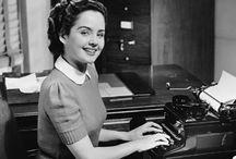 Desk Set / Vintage working girls, gentleman and the office / by Digital Dorkette Dolls