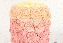 Rose Piped Ombre Cake from Mich Turner and The Little Venice Cake Company / Create and Craft TV will be teaming up with Mich and the Little Venice Cake Company to present seven live hours of demonstrations, tips and techniques on their sister channel, Ideal World starting at 9pm on Tuesday 22nd April.   Try your hand with this project and upload a picture of your creation and tag us in the shot! / by Create & Craft