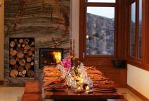 Lodge, Dacha, Chalet.. rustic living / by Lena Kroupnik Interiors