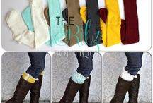 Legwarmers/ boot cuffs/ boot socks / by The Ritz Boutique